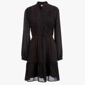 J Crew Factory Ruffle pintuck dress | black | sz 4